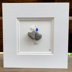 Sea Glass Love Birds